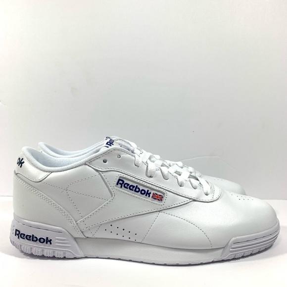 e3f3344594a Reebok Classic Exofit Lo Logo White Shoes Size 10